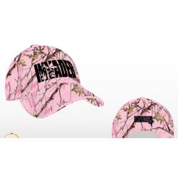 Czapka letnia z daszkiem camo różowym z logo Invader