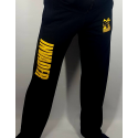 Spodnie dresowe czarne proste z logo Invader