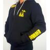 Bluza dresowa czarna rozpinana z kapturem z logo Invader
